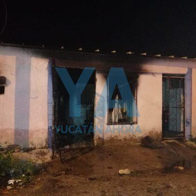 Madrugador incendio en solitaria casa  del fraccionamiento Serapio Rendón