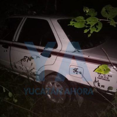 Joven taxista se duerme al volante y despierta en medio de la selva