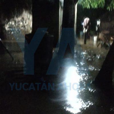 Prolongada lluvia inunda casas y deslava cerro en Calcehtok