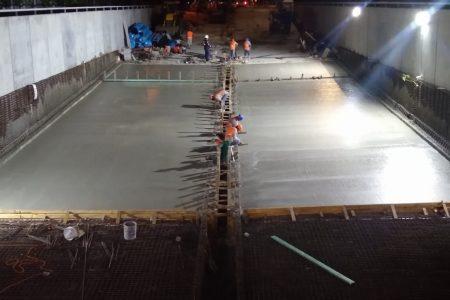 Reparación del paso deprimido ya se 'chupó' 365 toneladas de acero y 80 ollas de concreto hidráulico