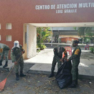 El Ejército realiza labor social en escuela de educación especial