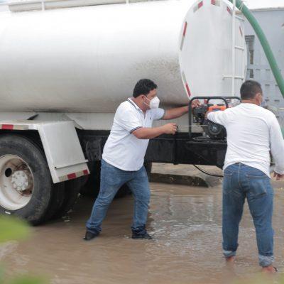 Inmediata respuesta a la emergencia por las lluvias en Kanasín
