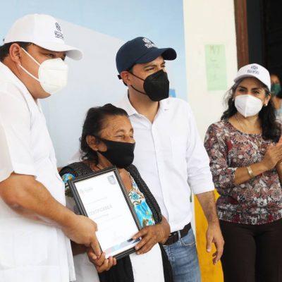 Familias de Tecoh reciben apoyo del Gobernador Mauricio Vila para mejorar sus viviendas