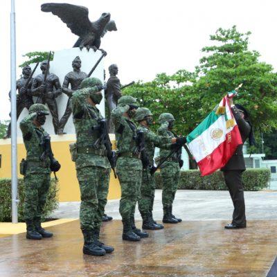 ¡Murió por la Patria! Conmemoran la gesta de los Niños Héroes de Chapultepec