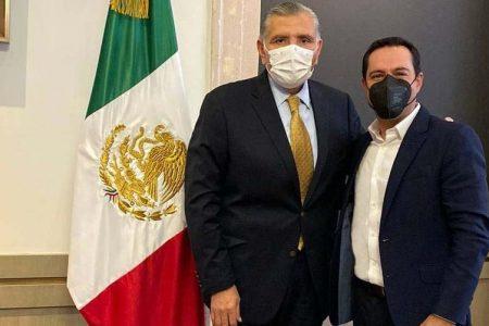 Se reúne el gobernador Mauricio Vila con el titular de Gobernación, Adán Augusto López