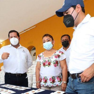 Mauricio Vila distribuye apoyos para familias del campo afectadas por el huracán Grace