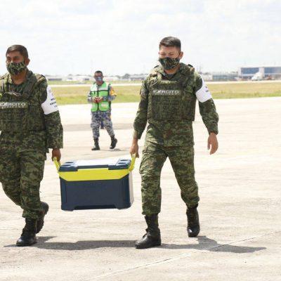 Llegan a Yucatán 52 mil vacunas contra Covid-19, para segundas dosis