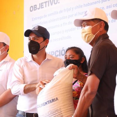Mauricio Vila respalda a productores del oriente de Yucatán afectados por el huracán Grace