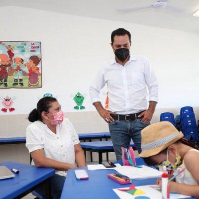 Mauricio Vila entrega primaria y jardín de niños en Ciudad Caucel