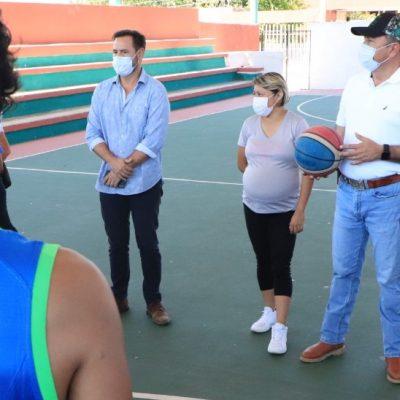 Nueva imagen del semillero de basquetbolistas en Tizimín