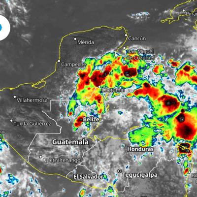 Fin de semana con temporal de lluvias para la Península de Yucatán