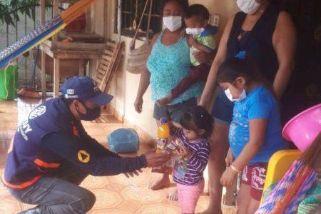 Familias afectadas por inundaciones del sur de Yucatán siguen recibiendo apoyo del Gobierno del Estado