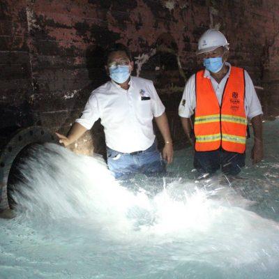 Reanuda operaciones el cárcamo de la Japay en la García Ginerés