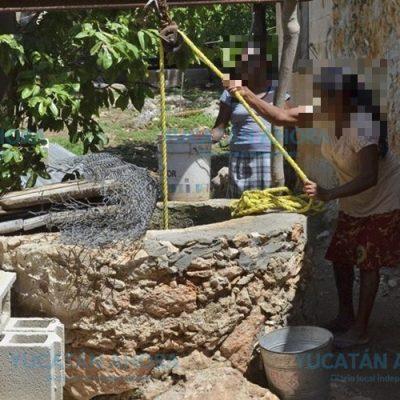 En Yucatán todavía hay campesinos que 'jalan' agua de pozo para regar sus cultivos