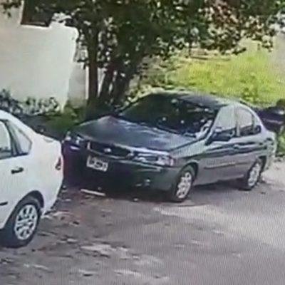 Fallido ladrón evidenciado por cámara de videovigilancia