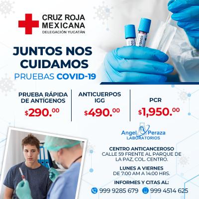 Abren servicio de pruebas Covid-19 en Delegaciones de Cruz Roja Mexicana