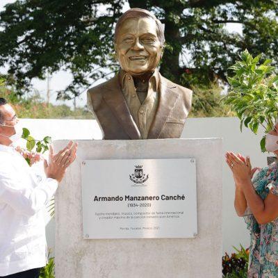 El alcalde Renán Barrera cumple promesa al maestro Armando Manzanero