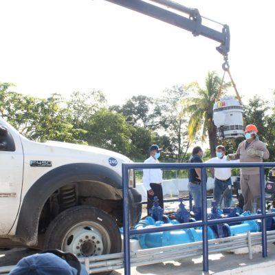 La Japay instala bomba en el cárcamo de Celestún