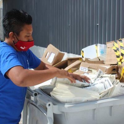 El INE destruye en Yucatán dos toneladas de listas nominales