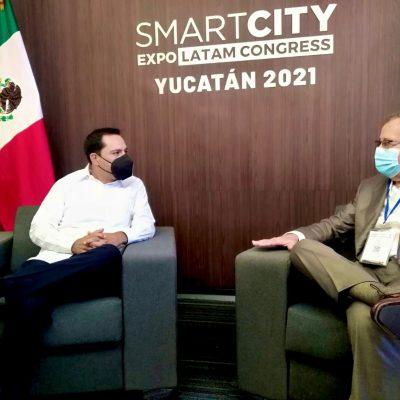 Alcalde de Miraflores, Perú, se reúne con el gobernador Mauricio Vila