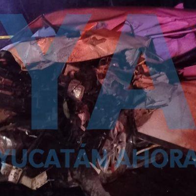 Muere prensado en la carretera Mérida-Cancún