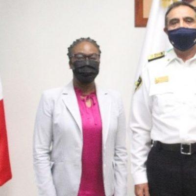Cónsul de Estados Unidos en Mérida visita la SSP Yucatán