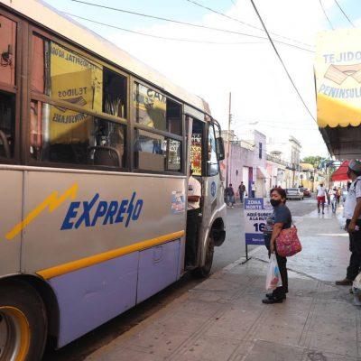 En orden y con buena aceptación la primera jornada de reubicación de paraderos en el Centro de Mérida