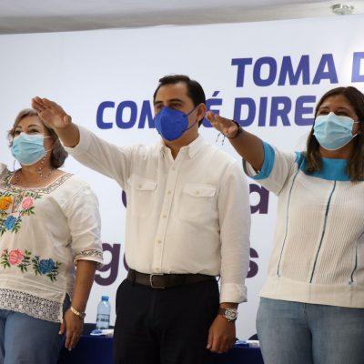 Asís Cano toma protesta como dirigente del PAN Yucatán para el periodo 2021-2024