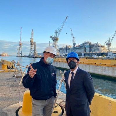 Mauricio Vila visita en Italia astilleros y empresas dedicadas a la fabricación de barcos y cabinas navales