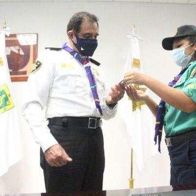 Jóvenes scout asumen el cargo por un día en la SSP Yucatán