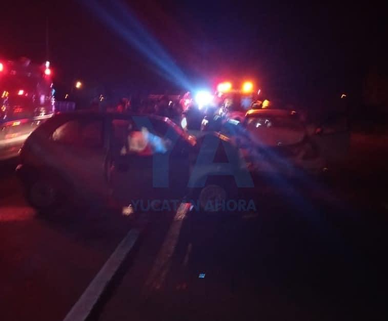 Terrible accidente en la carretera Mérida-Tixkokob